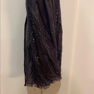 Black sparkly scarf